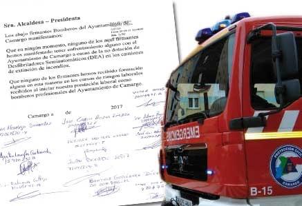 11 de los 14 bomberos desmienten el estar enfrentados con el Ayuntamiento de Camargo