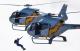Exhibición de vuelo acrobático de los helicópteros de la Patrulla Aspa en Piquío