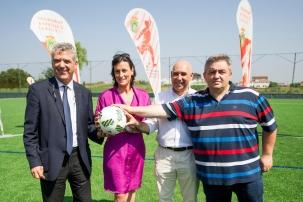 Villar preside la inauguración oficial de los dos nuevos campos de fútbol de hierba artificial