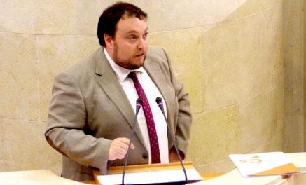 Ciudadanos registra un informe pidiendo que Carrancio sea diputado no adscrito