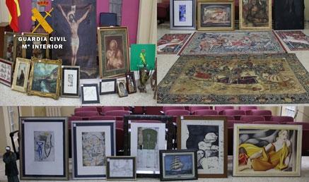 Recuperadas 34 obras de arte valoradas en 100.000 euros