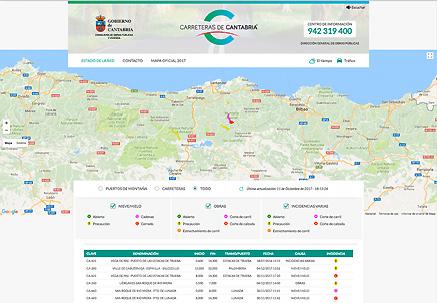 Nuevo Mapa De Carreteras De Cantabria En Edicion Interactiva