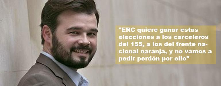 """Se debilita la posibilidad de un tripartito en Cataluña: """"Esquerra no pacta con carceleros"""", declara Rufián"""
