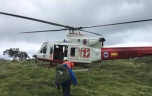 El helicóptero del Gobierno realizó 153 intervenciones y rescató a 79 personas