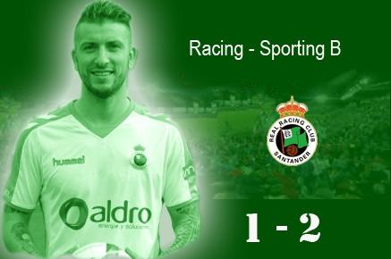 El Racing no puede con el Sporting B y pierde tres puntos de oro en el Sardinero