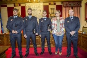 Los  nuevos agentes de la Policía Local de Camargo toman posesión de su cargo