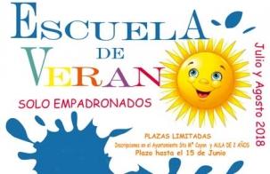 El Ayuntamiento de Santa María de Cayón organiza la Escuela de Verano 2018