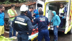 Evacuada una escaladora con traumatismo de coxis y pierna al precipitarse por unos 10 metros