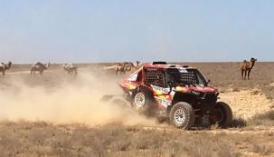 """""""Lucharemos por conseguir un buen puesto en el Rally de Kazakhstan"""", dice el piloto cántabro Peña"""