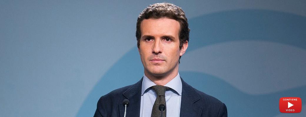 """Casado transmite tranquilidad al Partido Popular:  """"No me he planteado dimitir, en absoluto""""."""