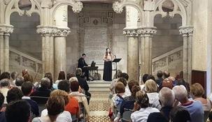 El Duetto Garogha triunfa en una jornada llena de cultura en la Fundación Comillas