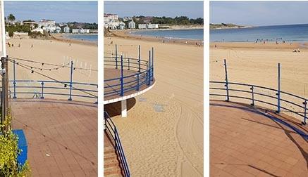 Vandalismo en la Primera playa de El Sardinero