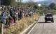 Centenares de personas ovacionaron al piloto cántabro Peña desde las cunetas