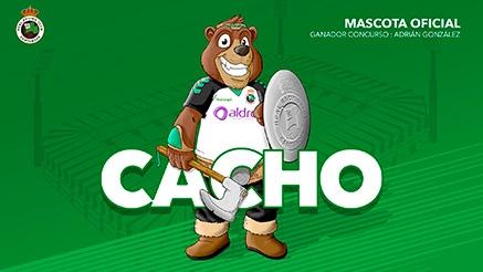El oso Cacho es la nueva mascota del Racing