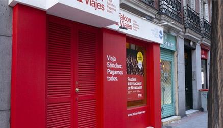 El PP crea 'Falcon Viajes' en la calle Ferraz, a escasos metros de la sede del PSOE