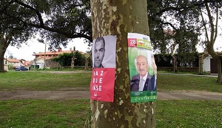 """Denuncian a PRC y PSOE por """"poner carteles electorales en lugares no habilitados para tal fin"""""""