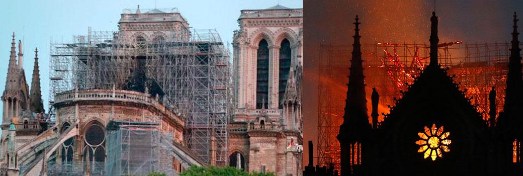Notre Dame resiste: se da por salvada la estructura de la catedral tras perderse la aguja y la cubierta central