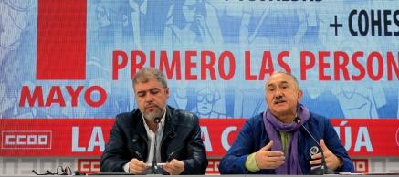 Los sindicatos se manifiestan este Primero de Mayo para expresar sus preferencias sobre un Gobierno de izquierdas
