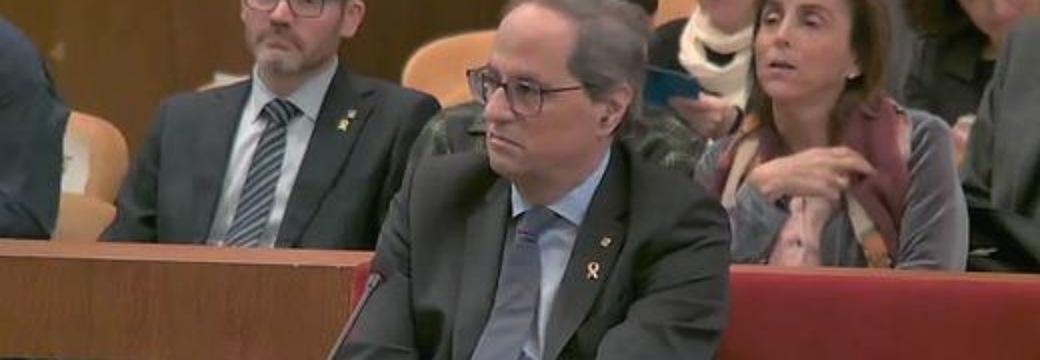 """El juicio a Torra, visto para sentencia: """"La Junta Electoral Central nos puso en la disyuntiva de tener que desobedecer o prevaricar"""""""