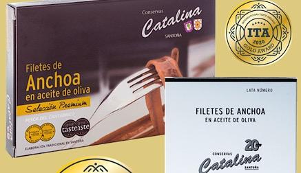 Las anchoas 'Premium' y 'Reserva Catalina' obtienen dos medallas de oro en los International Taste Awards