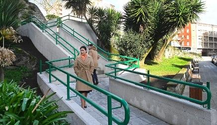 Finalizan las obras de las escaleras del parque Recaredo