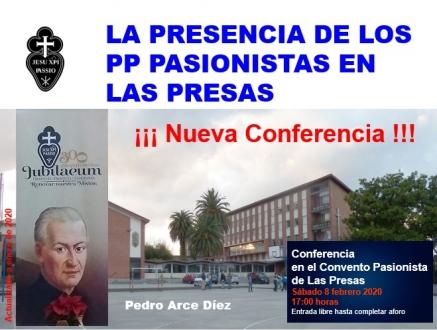 Conferencia de Pedro Arce sobre la presencia de los Pasionistas en las Presas