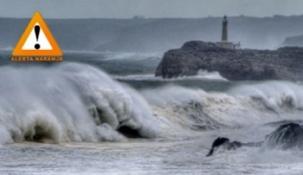 Mañana se espera mar combinada del noroeste con olas de entre 4 y 6 metros