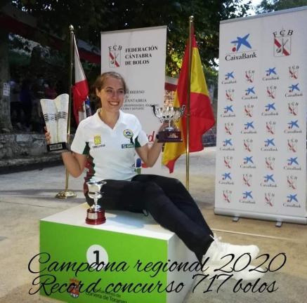 Iris Cagigas gana su segundo Campeonato de Cantabria consecutivo