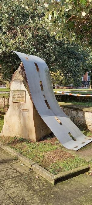 Monumento a los ciclistas en Polanco